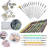 Vtops - Juego de herramientas para decoración de uñas con cristales de estrás