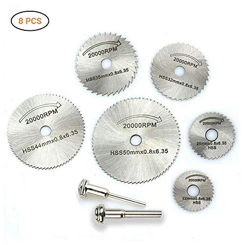 8 stuks zaagblad cirkelzaagblad draaiwerktuig doorslijpschijven accessoires cirkelzaagblad voor hout kunststof, glasvezel, koper, aluminium blik