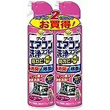 らくハピ アースエアコン洗浄スプレー 防カビプラス エアリーフローラルの香り [420mLx2本]