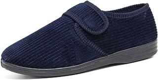 Zapatillas ortopédicas diabéticas para hombre, fáciles de cerrar, ajuste ancho, acolchadas, cálidas, para invierno, tallas...