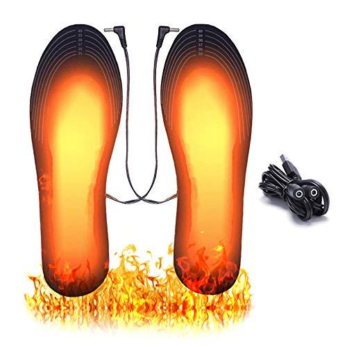 ASANMU Solette Riscaldate, Solette Riscaldate Ricaricabili USB, Solette Termiche Scaldapiedi Solette per Uomo Donna, Tagliabile Elettriche Solette Riscaldato per Sci Pesca Campeggio Escursionismo