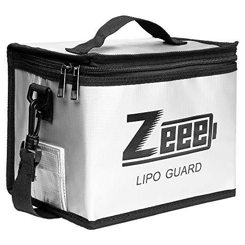 Zeee Lipo Safe Bag Feuerfeste, explosionsgeschützte Tasche Großraum-Lipo-Akku-Aufbewahrungsbox Schutztresortasche zum Laden und Aufbewahren