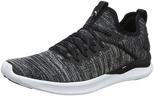 Puma Herren Ignite Flash Evoknit Sneakers, Schwarz Black-Asphalt White, 42 EU