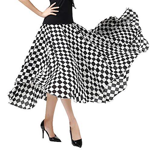 LNIGHT 社交ダンスドレス 黒白...