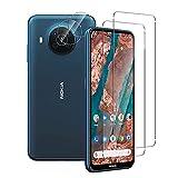 Aerku Panzerglas Schutzfolie Kompatibel mit Nokia X20 5G [2 Stück] + Kamera Schutz [2 Stück], 9H Festigkeit Bildschirmschutzfolie HD Folie Anti-Kratzer Panzerglasfolie für Nokia X20 5G