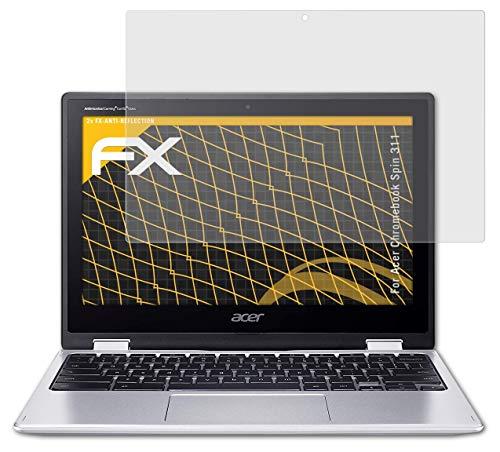 atFolix Panzerfolie kompatibel mit Acer Chromebook Spin 311 Schutzfolie, entspiegelnde & stoßdämpfende FX Folie (2X)