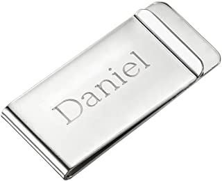 Personalized Stainless Steel Money Clip with Custom Engraving
