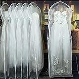 ZHYHAM Cubierta de polvo transparente de doble cara para vestido de novia con cremallera lateral para el hogar y guardarropa