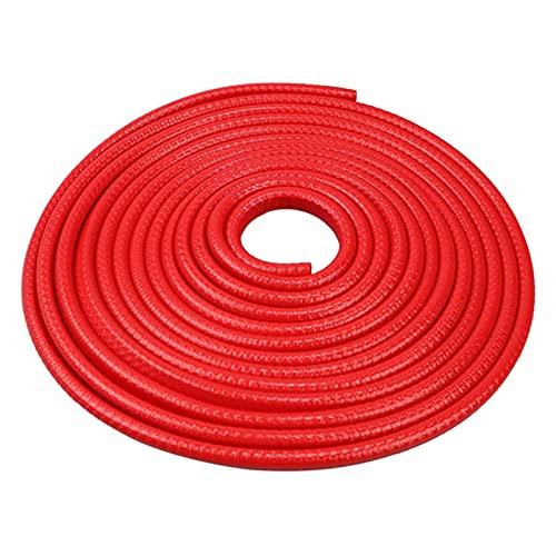MIJPOJAN Accesorio de Herramientas de Coche de 5M Coche Puerta Protección Borde Anti Collision Strip Aislamiento de Ruido con Disco de Acero Pegatinas de la Tira del Protector (Color : White)