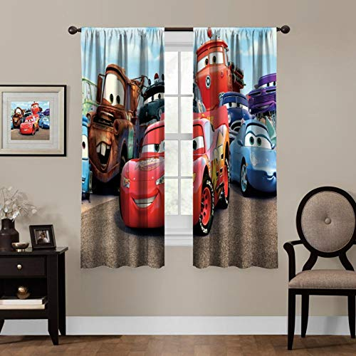 "oobon Blackout Curtains, Paw_Patrol,Rod Pocket Thermal Insulated Darkening Window Drapes for Bedroom, Cute Animal Boys Girls Room Décor, 55""×63"", 2 Panels"