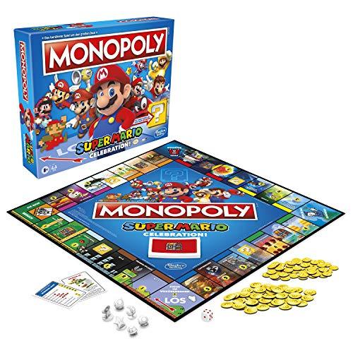 Monopoly Super Mario Celebration Brettspiel für Super Mario Fans ab 8 Jahren, mit Soundeffekten aus dem Videospiel