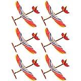 TOYANDONA 6 Piezas de Juguetes de Goma con Motor de Avión para Niños Aviones de Lanzamiento a Mano Modelo de Avión Volador Juguetes Deportivos Al Aire Libre Regalos para Fiestas de