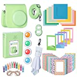 Fujifilm Premium Leather Camera Case with Accessories Kit Bundle for Instax Mini 9 Instant Film Camera   Includes Camera Strap + Photo Album + Picture Frames + Selfie Lens + Cleaning Cloth & More