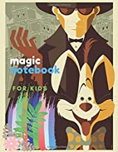 Magic Notebook for Kids: Sketchbook 8.5 x 11 for Drawing with Pencils or Acrylic and Watercolor Paints Large Blank Pages with White Paper Children ... Сartoon Sketch Pad Magician and Rabbit