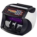 Banknotenzähler für gemischte Geldscheine, Profi Geldscheinzähler Zählt sicher 1000 Geldscheine in der Minute, LCD Display mit UV- und MG-Systeme, Falschgeld-Detektor für Euro | Pfund usw