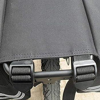 Sac de sacoche de siège arrière, sac de porte-bagages de vélo imperméable de grande capacité, plusieurs poches, conception de sac en filet à l'extérieur, idéal pour le camping-car en voyage(noir)