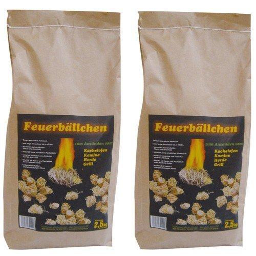 RaiffeisenWaren Kaminanzünder, Feueranzünder, Feuerbällchen (Anzünder ökologisch, aus Naturprodukten - Wachs, Naturholz; Nässe unempfindlich; Brenndauer ca. 10 min) 5 kg
