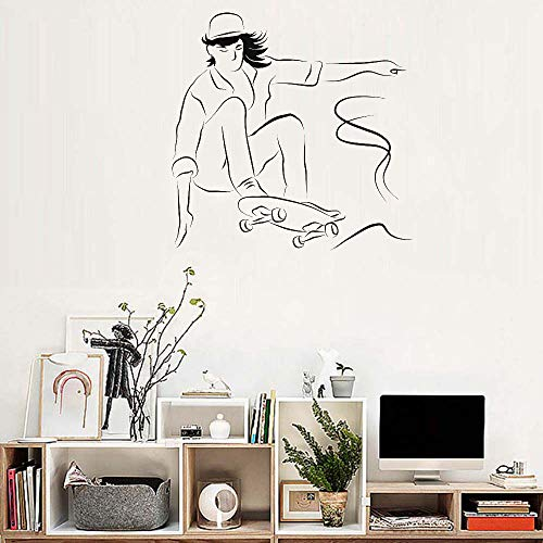 stickers muraux bebe juju et compagnie Happy Child Skateboard Ride Boy Livingroom moderne chambre des enfants