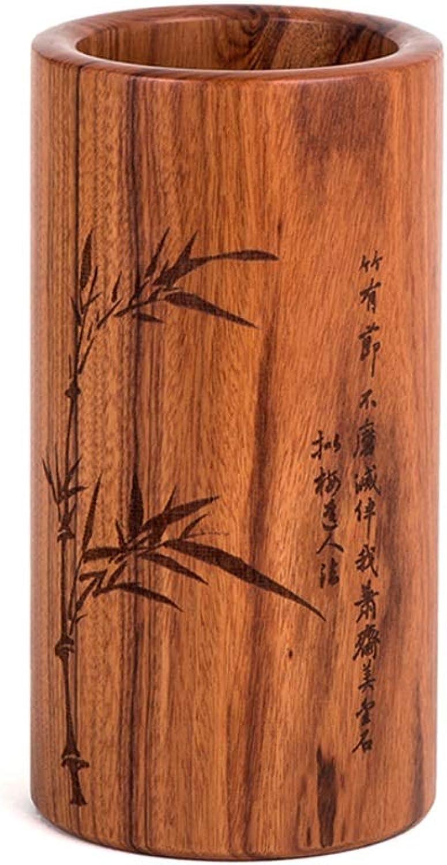 Solid Wood Pen Holder, Bamboo Pen Holder Organiser for pens, Office Organiser,Supplies, Small Parts hx1217-C