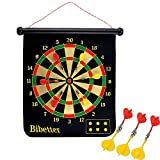 Beylos Magnetic Reversible Dartboard 18.5' *15' (47 * 38cm), Easy to Roll Up and Store with 6 Darts, Safe to Kids, Birthday Present