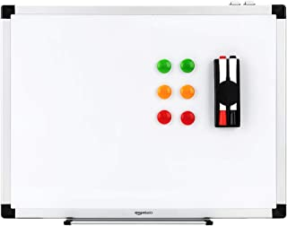 AmazonBasics - Pizarra blanca magnética con bandeja para