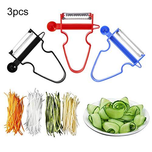 CZX 3-teilig Slicer Gemüseschneider Schäler Aktenvernichter Shredder Mehr Peel Edelstahlklinge Reibe Küchenwerkzeug Triple Schäler Set