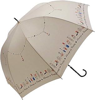 マーブドロップ 長傘 ラメ&ドーム傘 60cm メイクミーアップ オフホワイト ジャンプ 雨傘