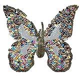 PULABO parches bordados mariposa insignia apliques lentejuelas DIY accesorios etiqueta patchwork para ropa bolsas de calidad superior y creatividad seguridad