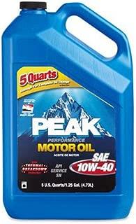 PEAK (P4M015) SAE 10W-40 Motor Oil - 5 Quart Jug