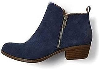 Women's Concise Block Heel Zipper Chelsea Ankle Boot Office Dress Booties