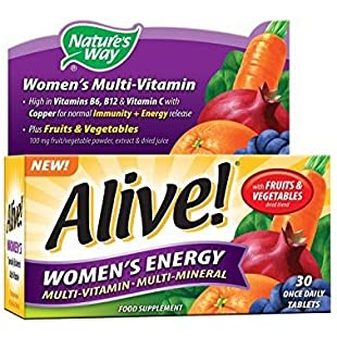 Nature's Way Alive Women's Energy Multi-Vitamin and Mineral Tablets - Pack of 30