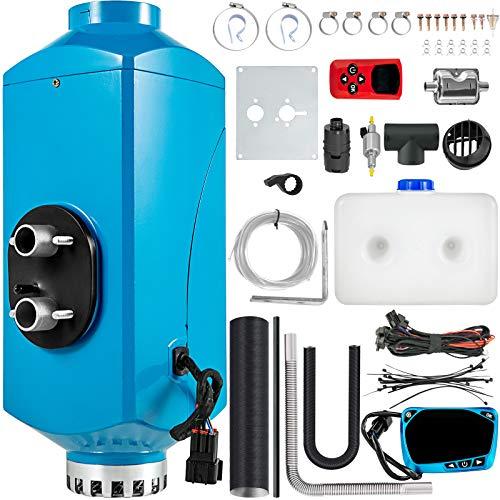 Mophorn Calentador de Diesel 12V 2KW Calentador de Aire de Diesel de Alumnio con Interruptor LCD Calefacción Estacionaria para Barcos Autobús