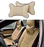 Icegirl 2pcs Universal Leather Car Seat Pillow Breathable Car...