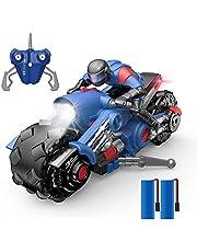DEERC ラジコンカー こども向け スタントカー リモコンカー バイク おもちゃ ライトモード フォグストリーム 1/14 使用時間80分 2.4GHz無線 国内認証済み おもちゃ プレゼント 贈り物 10421