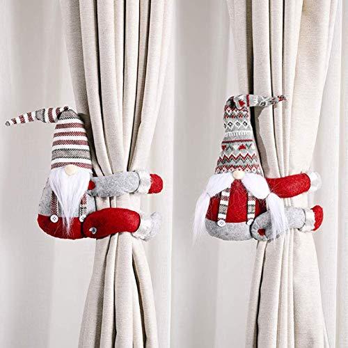 GuangZhou 2 Stück Weihnachtsvorhang-Raffhalter Cartoon-Puppen Vorhang Krawatten Vorhänge Seil Vorhang Raffhalter für Weihnachten Heimdekoration