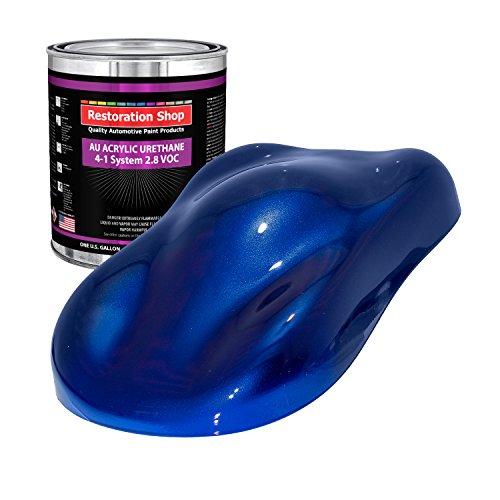 Price comparison product image Restoration Shop - Sapphire Blue Metallic Acrylic Urethane Auto Paint - Gallon Paint Color Only - Professional Single Stage High Gloss Automotive,  Car,  Truck Coating,  2.8 VOC
