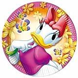 ALMACENESADAN 1087, Paquete de 8 Platos Disney Minnie Mouse, Daisy, 8 Platos 20 cms Producto de cartón, Ideal para Fiestas y cympleaños