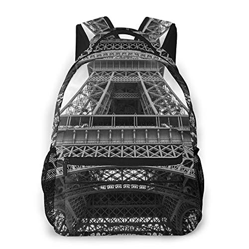 Judascepeda Zaino multiplo per il tempo libero,Particolare Della Torre Eiffel Contro Le Nuvo, sport da viaggio Borsa da scuola per studenti universitari giovani adulti