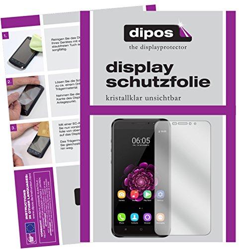dipos I 2X Schutzfolie klar kompatibel mit Oukitel U20 Plus Folie Bildschirmschutzfolie