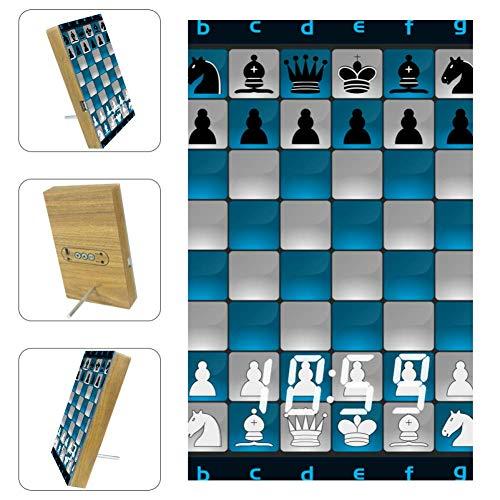 Indimization Tablero de ajedrez Reloj de Carga Despertador Digital con Puerto USB Pantalla LED y Control de Voz para Habitaciones de los niños Sala de Estar 6.2x3.8x0.9 in