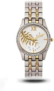 Sunex Women's White Dial Stainless Steel Band Watch, S6393TW