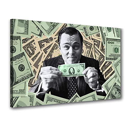 Quadro Decorativo O Lobo de Wall Street Dolar