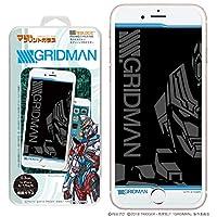 SSSS.GRIDMAN NEWLOGIC iPhone C-Glass 0.3mm マジカルプリントガラス 強化ガラス 液晶保護フィルム 液晶保護 ガラスフィルム (iPhone8/7/6s/6, グリッドマン)