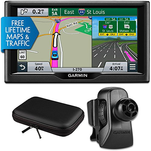 Why Should You Buy Garmin nuvi 67LMT 6 Essential Series 2015 GPS w Maps/Traffic Vent Mount & Case B...