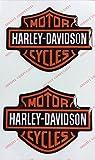 Stemma logo decal HARLEY DAVIDSON, coppia adesivi resinati, effetto 3D. Per SERBATOIO o CASCO