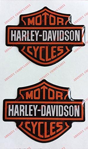 Adesivi Compulsivi - Adhesivos resinados con el emblema/logotipo de Harley Davidson con efecto 3DPara depósito o casco.