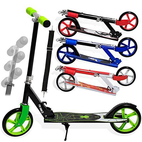 KESSER® Scooter Roller Kinderroller Cityroller Tretroller Kickroller Kickscooter (1. Spider (Green))