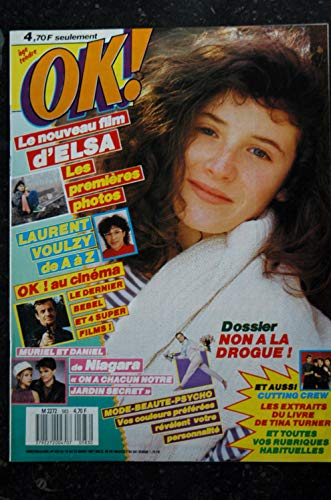 OK ! âge tendre 583 16 mars 1987 COVER ELSA Laurent VOULZY NIAGARA Cutting Crew