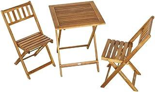 Aktive 61000 Sillas y mesa jardín Garden madera Acacia, Marrón
