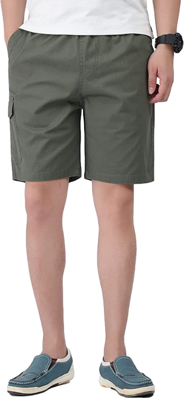 Segindy Men's Large Size Cargo Shorts Fashion Multi-Pocket Outdoor Leisure Sports